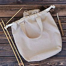 Iné tašky - Tvoritaška béžová s červenou ~ projektová taška - 10980545_