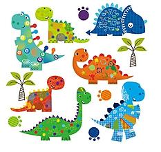 Galantéria - Nažehľovačky Dinosaury set - 10980295_