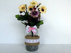 Dekorácie - Svadobná váza - 10980534_