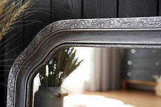 Zrkadlá - Zrkadlo v shabby chic kvietockovom ráme - 10978357_
