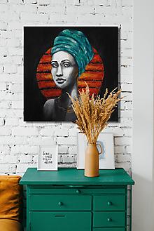 Obrazy - Portrét- Afričanka - 10980048_