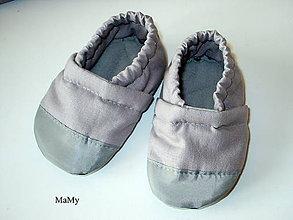 Topánočky - látkové capačky - 10979412_