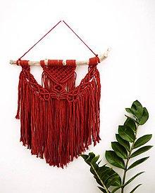 Dekorácie - Závesná dekorácia BOHO RED - 10978803_
