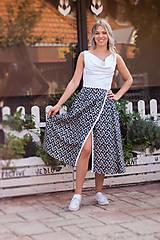 Šaty - Dlhé voľné šaty - 10979091_