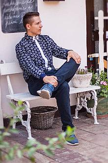 Košele - Pánska košeľa s jemným vzorom - 10979082_