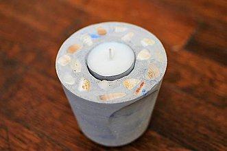 Svietidlá a sviečky - Svietnik s mušľami - 10979016_
