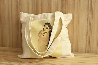 Nákupné tašky - Plátená taška Mama-bábo - 10978960_