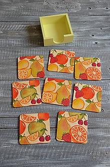 """Pomôcky - podložky pod šálku/pohár 8 ks - """"Citrusové ovocie"""" - 10980378_"""