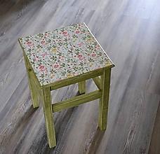 """Nábytok - stolček/stolička - """"Kvetinky"""" - 10980429_"""