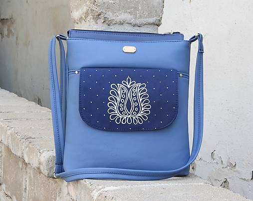 kabelka Leona modrotlačová modrá AM 1