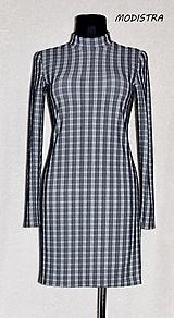 Šaty - Úpletové káro šaty - 10980425_