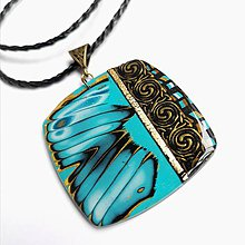 Náhrdelníky - Tyrkysový náhrdelník - 10977682_
