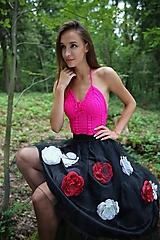 - Hodvábny krajkový top - 10980087_
