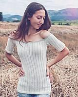 Tričká - Jemné úpletové tričko - 10980121_