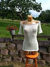 Tričká - Jemné úpletové tričko - 10980123_