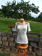 Tričká - Jemné úpletové tričko - 10980125_