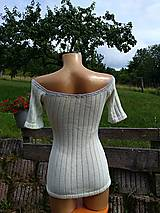 Tričká - Jemné úpletové tričko - 10980126_