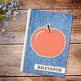 Papiernictvo - Džínsový denník ovocný (jablkový) - 10977889_