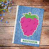 Papiernictvo - Džínsový denník ovocný (malinový) - 10977935_