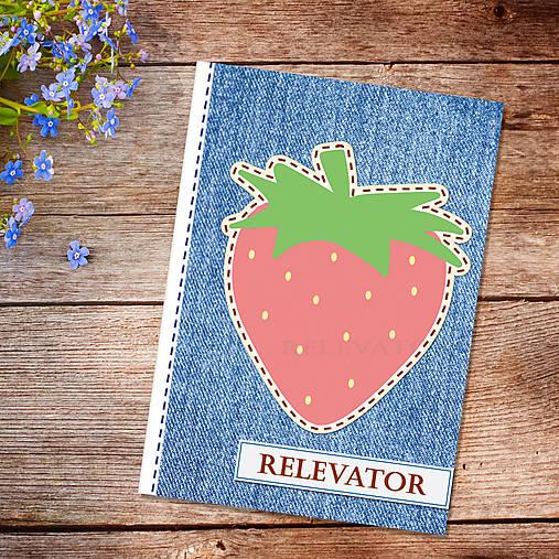 Džínsový denník ovocný (jahodový)