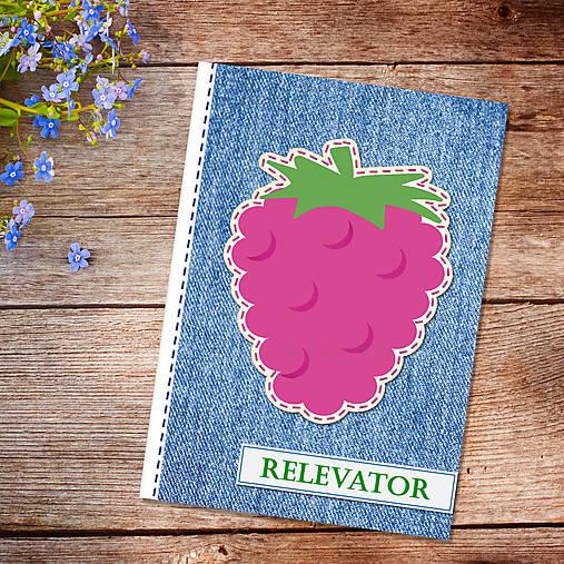 Džínsový denník ovocný (malinový)