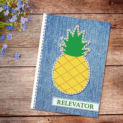 Džínsový denník ovocný (ananásový)