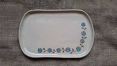 Nádoby - Raňajkový tanier Nezábudka - 10981158_