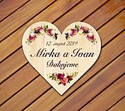 Darčeky pre svadobčanov - Svadobná magnetka - 10982952_