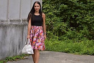 Sukne - MAGDA - pestrá letná originálna sukňa - 10982864_