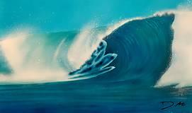 Obrazy - Morská vlna (NAMAĽOVANÉ) - 10983674_