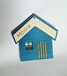 Dekorácie - Poďakovanie s fotorámčekom (Modrá-tyrkys) - 10981779_