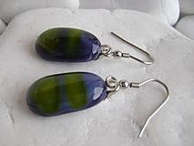 Náušnice - Modrozelené bacuľky - 10983667_