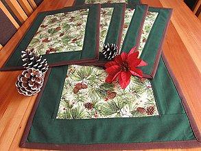 Úžitkový textil - Borovicové šišky set. (Borovicové šišky set pre 4 osoby) - 10981874_