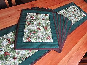 Úžitkový textil - Borovicové šišky set. (Borovicové šišky set pre 6 osôb) - 10981940_