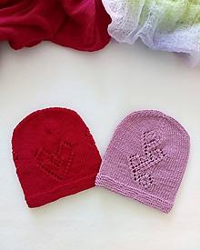 Detské čiapky - Čiapka (0 až 4 mesiace - Fialová) - 10982960_