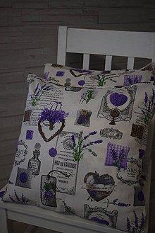 Úžitkový textil - POVLAK  NA POLŠTÁŘ ... levandule - 10982714_