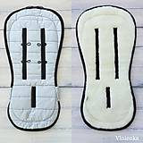 Textil - MERINO podložka do kočíka BUGABOO Bee / Buffalo/ Cameleon/ Donkey/ FOX 100% WOOL Seat Liner ATELIER grey - 10983115_