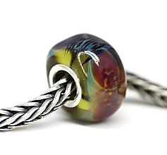 Náramky - Jesenné farby olivová pandorka /ch-213 - 10983599_