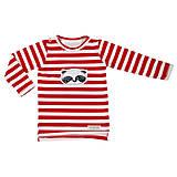 Detské oblečenie - Pííískacie tričko panda červená dlhý rukáv - 10980900_