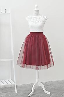 Sukne - Tylová sukňa - 10981163_