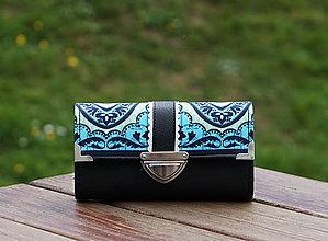Peňaženky - Peněženka Amy Butler Černá, 18 karet, prostorná - 10982300_
