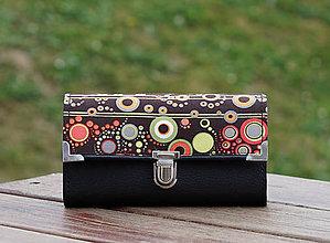 Peňaženky - Peněženka Podzim bubliny, 18 karet, 2 zipy, fotky - 10982485_