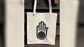 Iné tašky - ♥ Plátená, ručne maľovaná taška ♥ - 10983622_