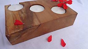 Svietidlá a sviečky - Svietnik drevený - 10983486_