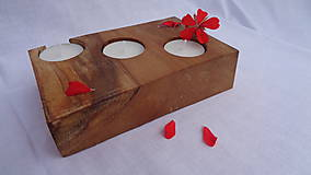 Svietidlá a sviečky - Svietnik drevený - 10983488_