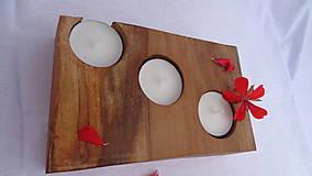 Svietidlá a sviečky - Svietnik drevený - 10983490_