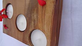 Svietidlá a sviečky - Svietnik drevený - 10983492_