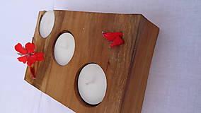 Svietidlá a sviečky - Svietnik drevený - 10983493_