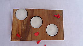 Svietidlá a sviečky - Svietnik drevený - 10983513_