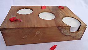 Svietidlá a sviečky - Svietnik drevený - 10983517_